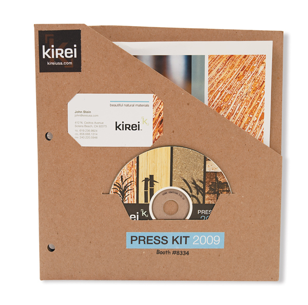 More trash proof press kits exhibitor magazine Interior design welcome packet