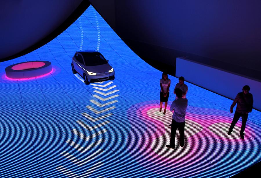 Fabric Exhibition Stand Job : Futuristic flooring exhibitor magazine