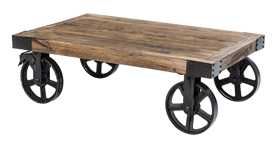 The Barbary Coast Cart from Cort Event Furnishings is the epitome of industrial  chic. The wooden mobile cart – which can be used as a low coffee table or  ... - Industrial Chic - EXHIBITOR Magazine