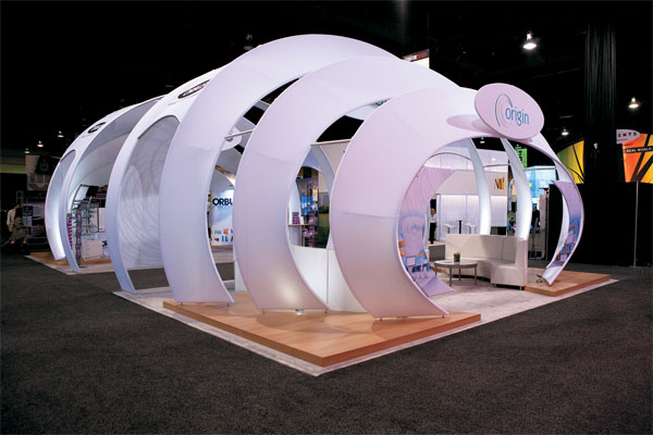 Exhibition Booth Structure : Designer fabrics exhibitor magazine