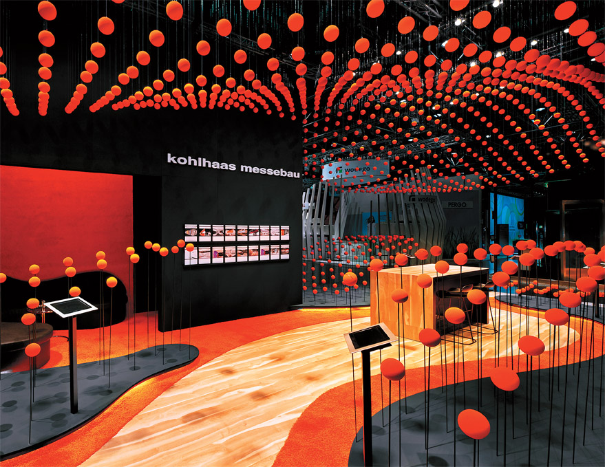 Exhibition Stand Design Articles : Orange crush exhibitor magazine