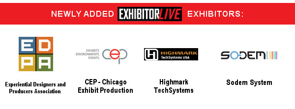 Welcome to our newest exhibitors