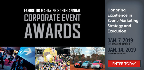 Enter EXHIBITOR�Magazine's�Corporate Event Awards