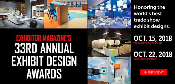 Enter EXHIBITOR�Magazine's�Exhibit Design�Awards