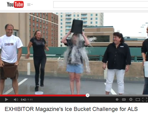 EXHIBITOR Magazine Accepts Ice Bucket Challenge