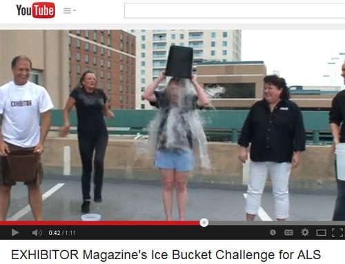 EXHIBITOR Magazine Accepts Ice Bucket Challenge