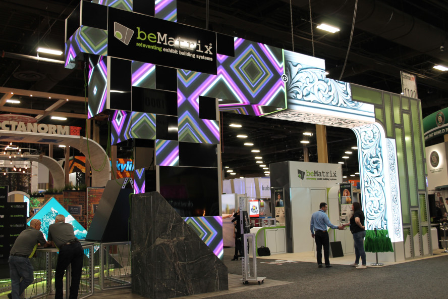beMatrix USA Wins 2019 Best of Show Large Booth Award at EXHIBITORLIVE