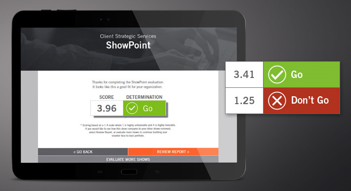 derse launches showpoint online scorecard for trade show evaluation
