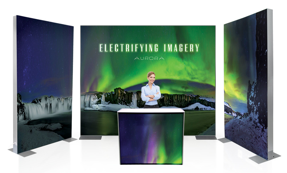 Post Up Stand Presents New Aurora SEG Backlit Light Box Displays and