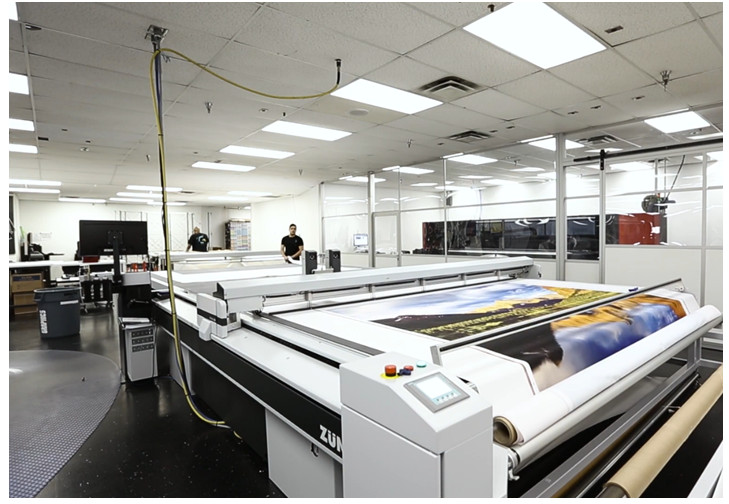 Upgraded VUTEk printer produces higher quality images and seamless, fabric backdrops