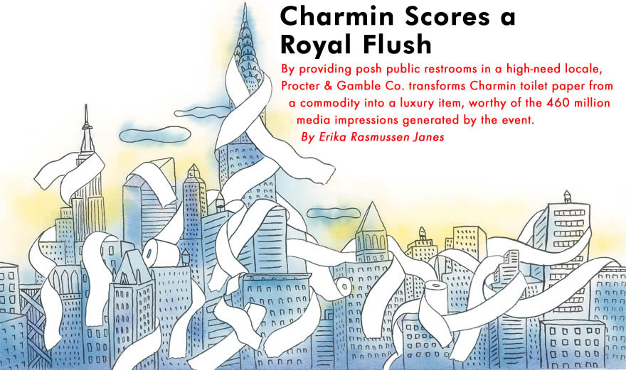 Corporate Event Magazine Article Charmin Scores A Royal Flush