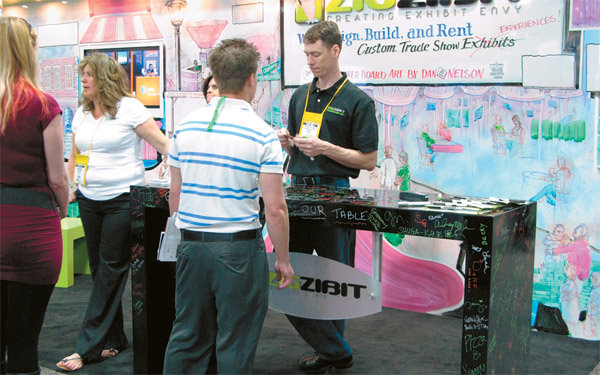Trade Show Booth Game Ideas : Small booth success exhibitor magazine