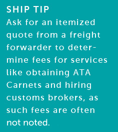many freight forwarders have partnerships with customs brokers in various cities