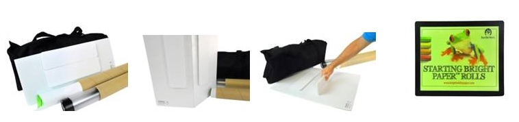 Bright White Paper Co.'s new Foldable Exhibitor Display Board